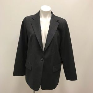 Pendleton Charcoal Grey Virgin Wool Blazer
